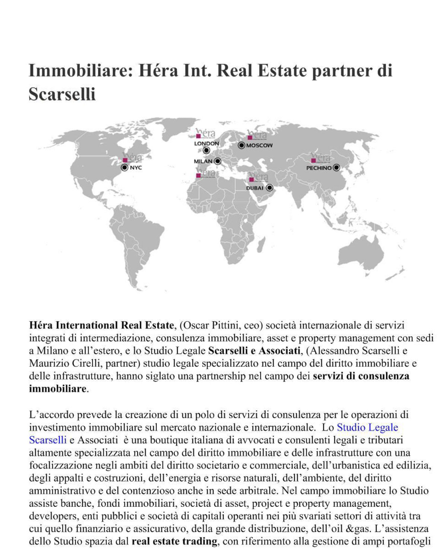 News Studio Legale Scarselli e Associati a Roma